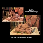 Foal- Precast clay
