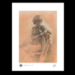 Nude woman study print
