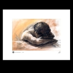 Pastel Drawing Man w/folded arms Print