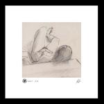 Reclining nude study #12, print