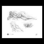 Reclining nude study #14 print