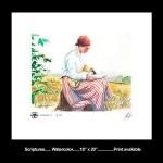 Scriptures Watercolor print
