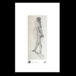 Standing nude study, print